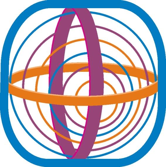 СХЕМА ОСНОВНЫХ ПОЛЕЙ ИКС-МАТРИЦЫ ПЛАНЕТЫ ЗЕМЛЯ. Оранжевое кольцо – символ тонкоматериального поля, где содержатся изначальные программы ИКС-матрицы. Фиолетовое кольцо – символ тонкоматериального центра саморазвития. Оранжевыми, зелёными и синими линиями изображены дуги (направленные энергоинформационные потоки), с помощью которых ИКС-матрица выполняет разнообразные функции. Синий «периметр» – защитное поле.