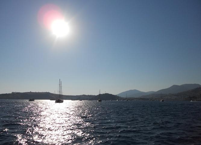 закат на Эгейском море.